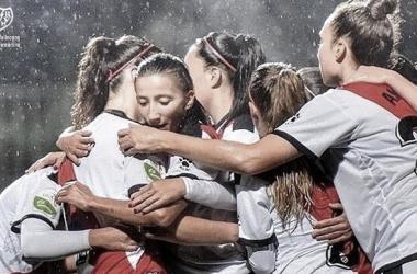 Celebración de un gol de las chicas | Foto: Rayo Vallecano S.A.D.