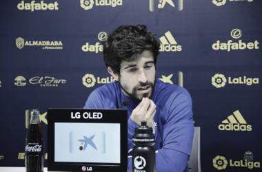Jairo durante la rueda de prensa | Cádiz CF