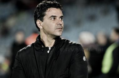 Míchel en su primer partido como entrenador del Rayo | Fotografía: Rayo Vallecano