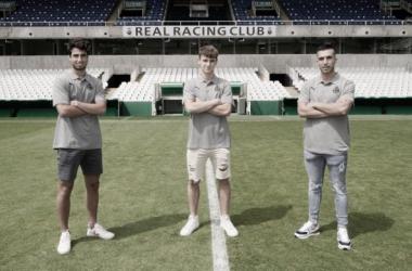 Marcos Bustillo, José Carlos Arjona y Javier Entrecanales en los Campos de Sport del Sardinero / Web: Real Racing Club oficial