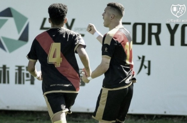 Carrasco celebrando su gol | Fotografía: Rayo Vallecano S.A.D.