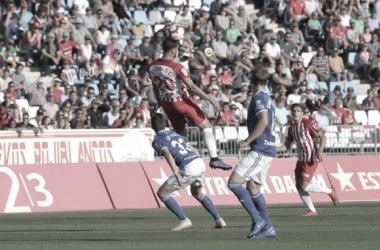 Álvaro Giménez no tuvo su partido. Fuente: UD Almería.
