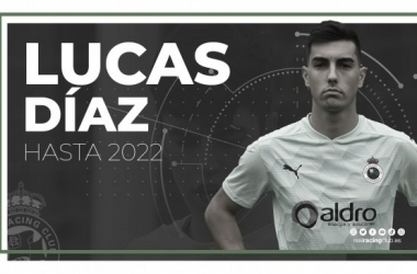 Lucas Díaz renovado hasta 2022. Fotografía: Real Racing Club