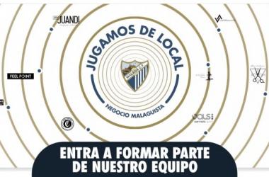 """"""" Jugamos de Local"""". Fuente: Málaga CF"""