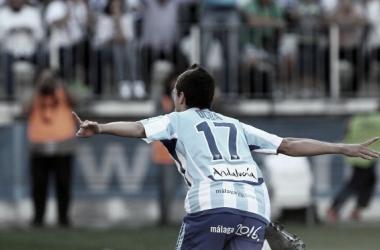 Imagen de Duda en un partido con el Málaga en Primera División / Fuente: Málaga CF