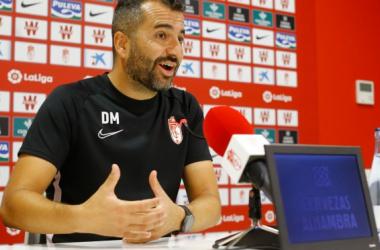 Diego Martínez en rueda de prensa. Foto: Pepe Villoslada/GCF
