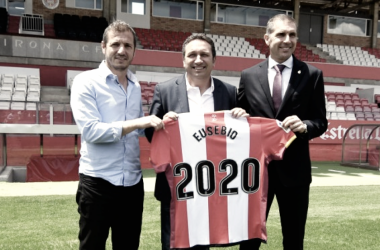 """Eusebio: """"Quiero adaptarme al estilo del Girona"""" / Fuente: Girona FC"""