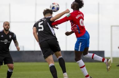 Lance del partido entre el Recreativo Granada y el Marbella esta temporada | Foto: Granada CF