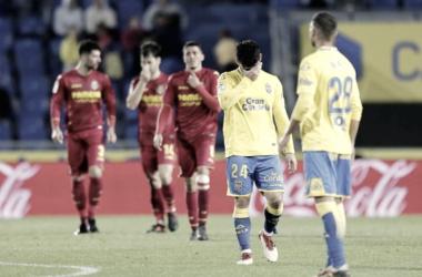 Tana, desbordado tras la derrota ante el Villareal CF por 0-2 | Fuente de imagen: udlaspalmas.es