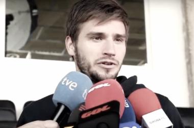 El 'Choco' Lozano atendió a la prensa en el 'Media Day' del Girona Foto: Girona FC