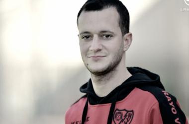 Ángel Dongil durante un partido   Fotografía: Rayo Vallecano S.A.D.