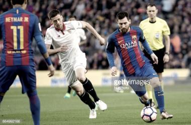 Barcelona vence Sevilha ao ritmo de Messi.