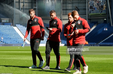 Josh Sims (far-right) is just one of the several promising youngsters to make their mark in the Southampton first-team in recent years.