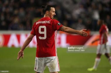 Above: Zlatan Ibrahimović in action during last season's Europa League   Photo: Matthew Ashton - AMA