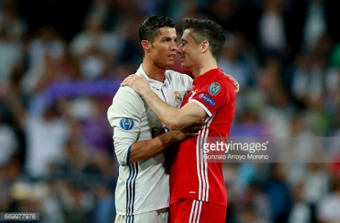 Might we see Ronaldo or Lewandowski in United red next term? Read on for the writers' thoughts   Photo: Gonzalo Arroyo Moreno/ Stringer.