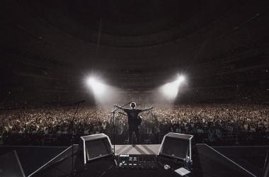 Foto publicada por Ed Sheeran en su concierto en Hannover // Image: Ig: teddysphotos