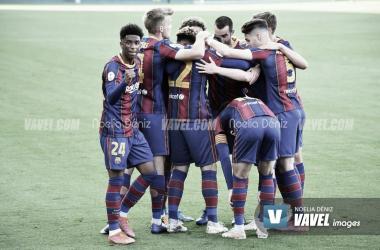 FC Barcelona B vs Ibiza, J5 2ª Fase, Segunda División B, 2/5/2021| Foto: Noelia Déniz- VAVEL