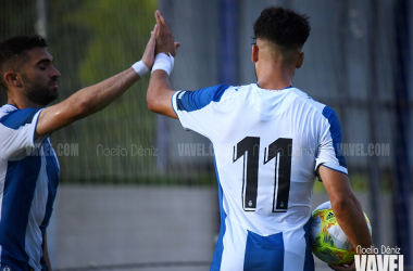 Carles Soria y Moha, jugadores del Espanyol B. FOTO: Noelia Déniz