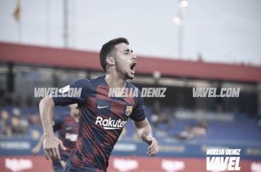 Guillem Jaime anotó el 2-1 para el Barça B | Foto: Noelia Déniz (VAVEL)
