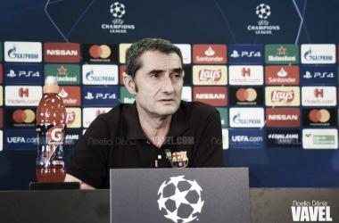 Ernesto Valverde en la rueda de prensa previa al partido correspondiente a la segunda jornada de la fase de grupos de la UEFA Champions League 2019/20 | Foto de Noelia Déniz, VAVEL