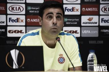 David Gallego, entrenador del RCD Espanyol. FOTO: Noelia Déniz