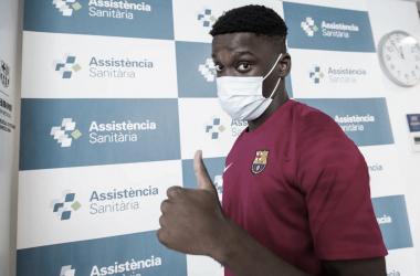 Ilaix Moriba en las pruebas medicas| Foto: Víctor Salgado - FC Barcelona