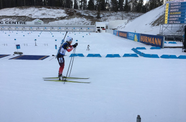 Tiril Eckhoff remporte l'individuelle de Canmore. (Twitter: @IBU_WC)