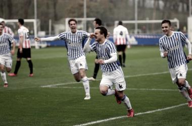 Muguruza anota el 1-0 | Foto: realsociedad.eus