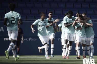 Los jugadores del Inter celebrando el 0-1 | Foto: Noelia Déniz (VAVEL)