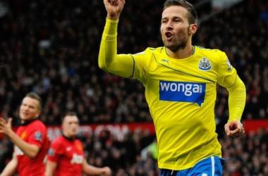 Cabaye celebra su gol la temporada pasada en Old Trafford. (Foto: BBC Sports   Chris Bevan).
