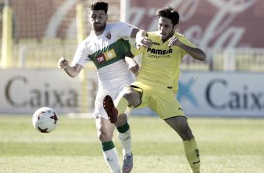 El Villarreal B ante el Elche en el Mini Estadi / Foto: Villarreal CF