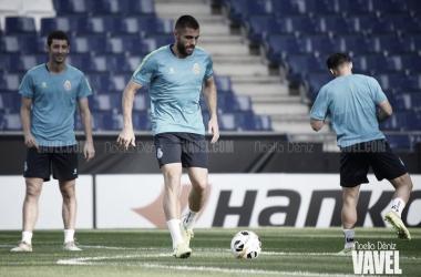 Preparación del duelo CSKA - RCD Espanyol. Foto: Noelia Déniz.