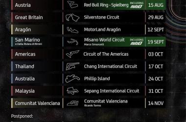 Actualizaciones en el Calendario del Mundial de MotoGP