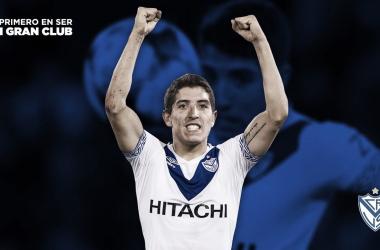 Caséres fue elegido como el mejor jugador de Vélez por los hinchas en 2018. Foto: Vélez.com