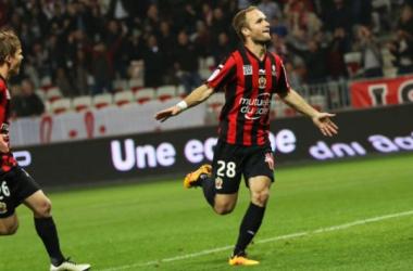 Valère Germain a ouvert le score pour Nice (OGCNice.net)