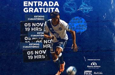 Ofrecerá Puebla entrada libre ante Cimarrones en Copa MX