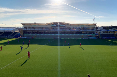 Both sides played out their 1-1 draw in the sunshine.<div>Image Source: Carrington Walker</div>