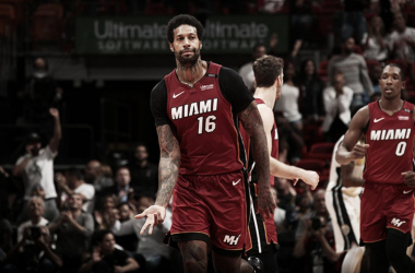 James Johnson estuvo espectacular para los Heat, Foto: Issac Baldizon/NBA