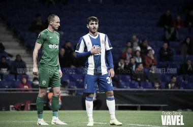 Víctor Campuzano ante el Ludogorets. FOTO: Noelia Déniz