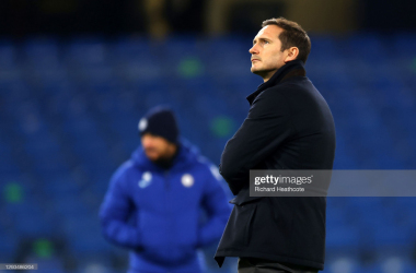 Frank Lampard, Manager of Chelsea looks on ahead of the Premier League match between Chelsea and Aston Villa at Stamford Bridge on December 28, 2020 in London, England