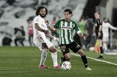 Lainez dejando atrás a Marcelo | Foto: La Liga