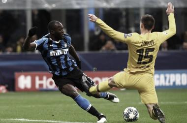 Romelu Lukaku durante el partido ante Barcelona | Fotografía: Internazionale