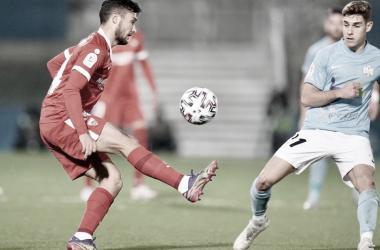 Óscar Rodríguez en un encuentro de Copa | Foto: Sevilla FC