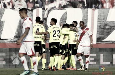 El Córdoba celebra el empate con unión. LaLiga123