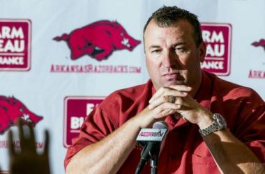 Head Coach Bret Bielema (AP/April L. Brown)