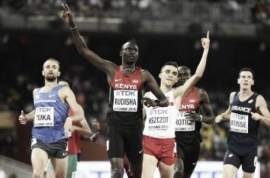 David Rudisha remporte son deuxième titre de champion du monde du 800m [AFP]
