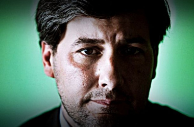 Sempre directo e frontal, Bruno de Carvalho fez alusão à má arbitragem (Foto: Bruno Simões Castanheira)