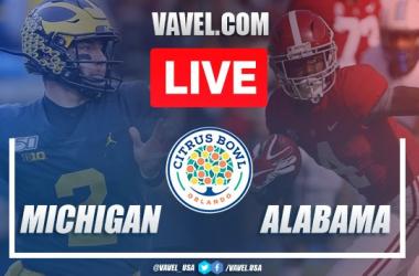 Michigan vs. Alabama: LIVE Stream Online and Score Updates (16-35)