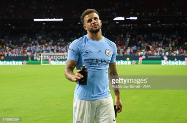 Above: Kyle Walker after the 2-0 defeat to Manchester United | Photo: Robbie Jay Barrat - AMA