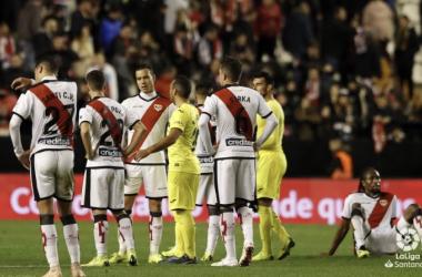 Jugadores del Rayo Vallecano y Villarreal | Fotografía: La Liga